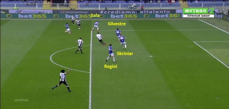 palla esterna, linea stretta, attenzione alal posizione della palla, esterno in posizione per dare l'esterno